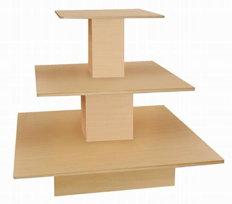 Awesome Display Tables Square 3 Level Shelving Unit Displays
