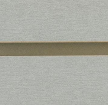 Brushed Aluminum Melamine Slatwall Panels Retail Store